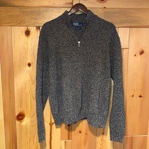 Men's POLO RALPH LAUREN 1/4 Zip Knit Sweater XXL